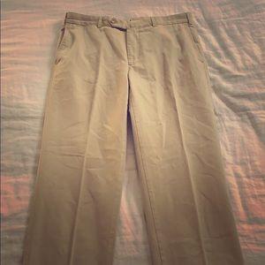 Ermenegildo Zegna Men's cotton tan khaki pants